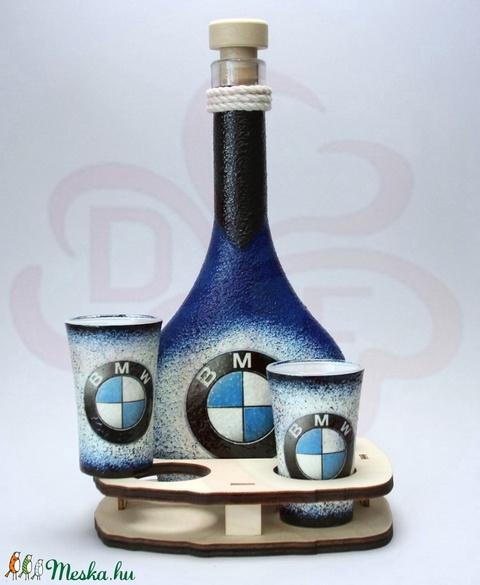 BMW pálinkás szett ; Saját BMW autód fotójával is!  - otthon & lakás - konyhafelszerelés - pohár - Meska.hu