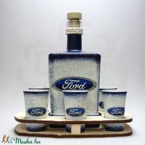 FORD pálinkás szett ; Saját Ford autó fotóval is!  - otthon & lakás - konyhafelszerelés - pohár - Meska.hu