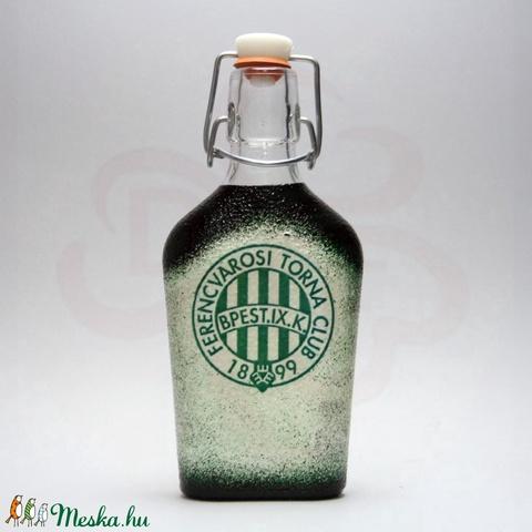 FTC pálinkás csatos üveg ; FTC foci szurkolóknak - otthon & lakás - konyhafelszerelés - üveg & kancsó - Meska.hu