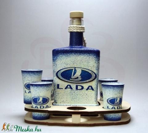 LADA ZSIGULI emblémás italszett  ; A Lada márka rajongóinak - otthon & lakás - konyhafelszerelés - pohár - Meska.hu