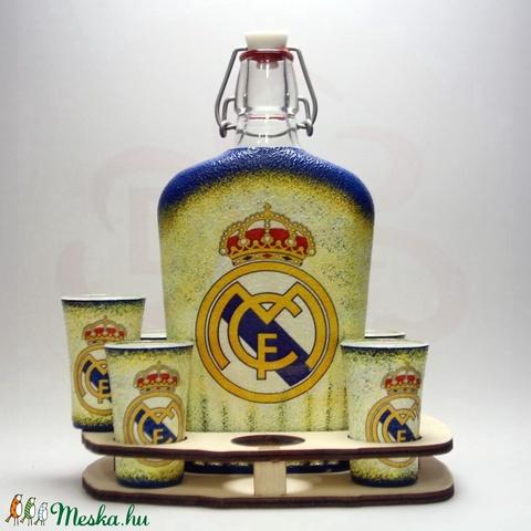 Real Madrid pálinkás kínáló ; Real foci szurkolóknak - otthon & lakás - konyhafelszerelés - pohár - Meska.hu