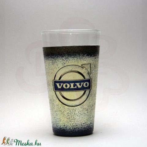 VOLVO üdítős pohár ; Volvo autód fényképével is! - otthon & lakás - konyhafelszerelés - pohár - Meska.hu