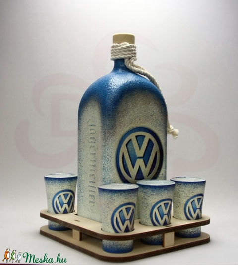 VOLKSWAGEN pálinkás szett ; Volkswagen autód fényképével is! - otthon & lakás - konyhafelszerelés - pohár - Meska.hu