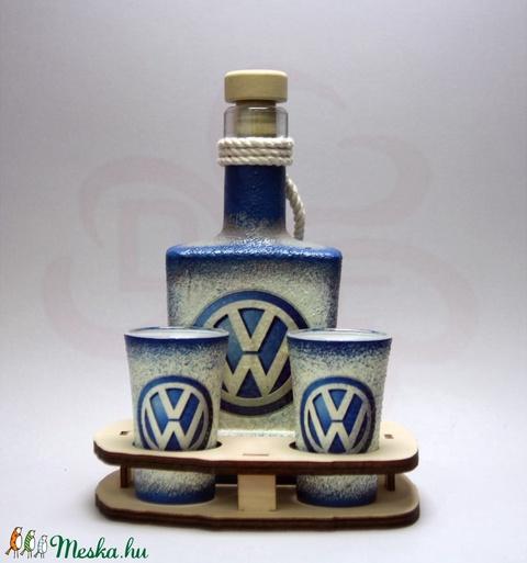 VOLKSWAGEN italos készlet ; Volkswagen autód fényképével is! - otthon & lakás - dekoráció - díszüveg - Meska.hu