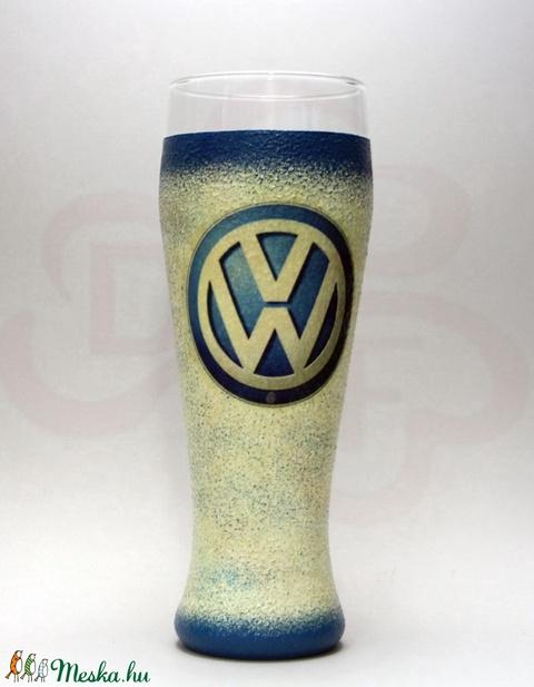 VOLKSWAGEN söröspohár ;  Volkswagen autód fényképével is! - otthon & lakás - konyhafelszerelés - pohár - Meska.hu