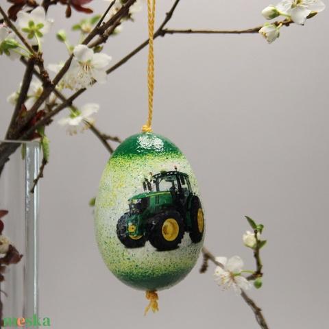 John Deere húsvéti tojás ; Ajándék John Deere rajongók részére traktor - Meska.hu