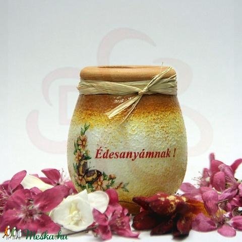 Anyák napra mini váza, ANYA, MAMA - képpel, névvel is - anyák napi ajándék édesanyáknak - otthon & lakás - dekoráció - váza - Meska.hu