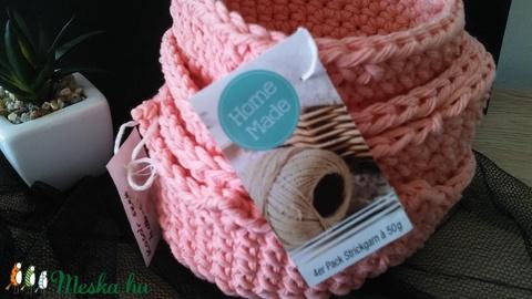 Rózsaszínű 4 db- os fürdőszobai kosár szett (designbybercica) - Meska.hu