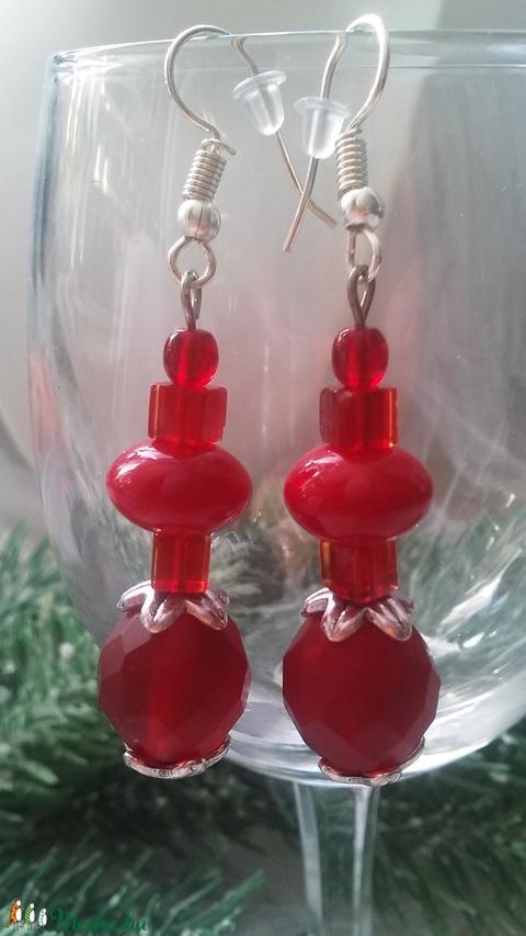 Piros világ fülbevaló  (designbybercica) - Meska.hu