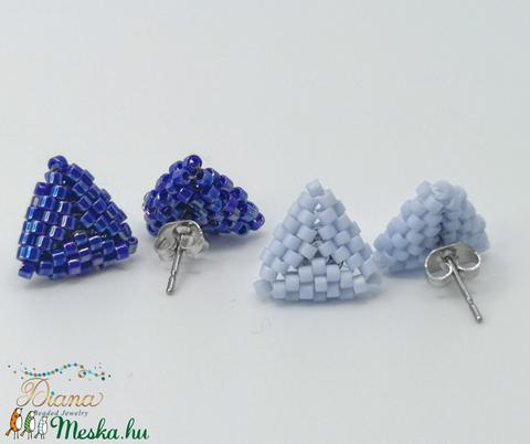 Ear candy fülbevaló szett - Kék - ékszer - fülbevaló - pötty fülbevaló - Meska.hu