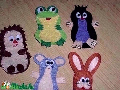 Kisvakond és barátai ujjbábkészlet (dikoka) - Meska.hu