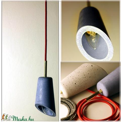 Design beton lámpa függeszték (dimethm) - Meska.hu