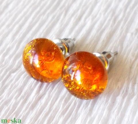 Arany karamell fülbevaló  , ajándék  névnapra, születésnapra. (Dittiffany) - Meska.hu