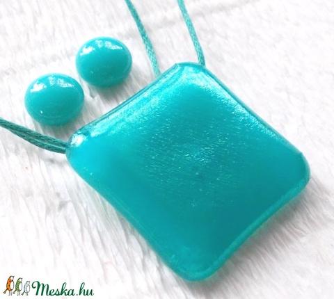 Türkiz ragyogás nyaklánc és fülbevaló, ajándék  lányoknak ballagásra, névnapra, születésnapra. (Dittiffany) - Meska.hu