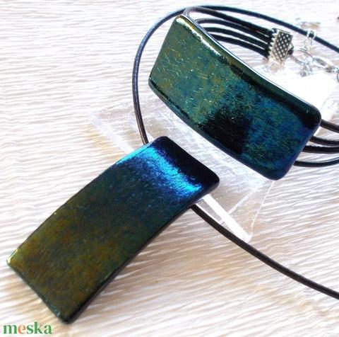 Smaragd kék-zöld fúzió ékszerszett , névnapra születésnapra. (Dittiffany) - Meska.hu