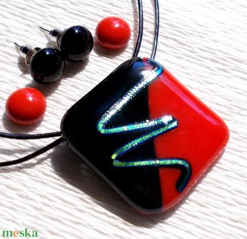 Piros-fekete  ékszerszett , ajándék lányoknak. (Dittiffany) - Meska.hu