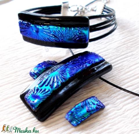 Kék-türkiz csillagszóró, ékszerszett,  ajándék  nőknek, ballagásra, névnapra, születésnapra. (Dittiffany) - Meska.hu