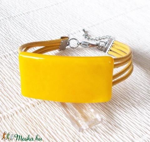 Sárga ékszerszett, ajándék nőknek, lányoknak, ballagásra, névnapra, születésnapra. (Dittiffany) - Meska.hu