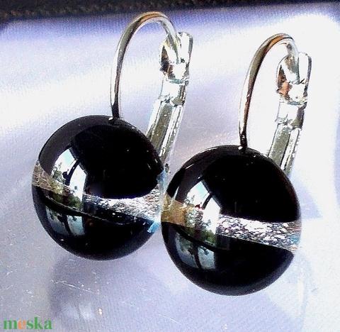 Piros ezüst kapcsos fülbevaló, ajándék nőknek névnapra, születésnapra.  (Dittiffany) - Meska.hu