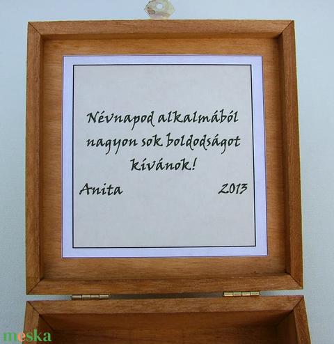 Pávás díszdoboz egyedi alkalomra - Meska.hu