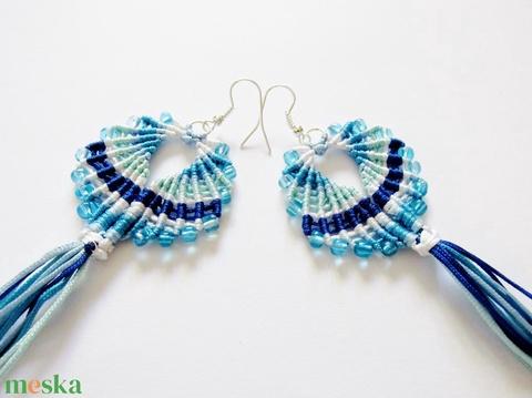 Maracas fülbevaló (Kék) - ékszer - fülbevaló - rojtos fülbevaló - Meska.hu