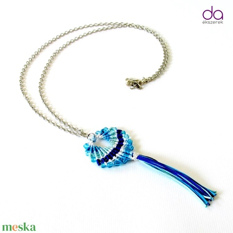 Maracas nyaklánc (kék) - ékszer - nyaklánc - medálos nyaklánc - Meska.hu