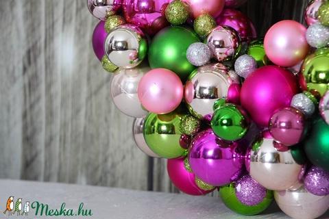 Közepes- 35 cm - Élénk csillogás - adventi karácsonyi ajtódísz  (35-36 cm) (DreamDekor) - Meska.hu