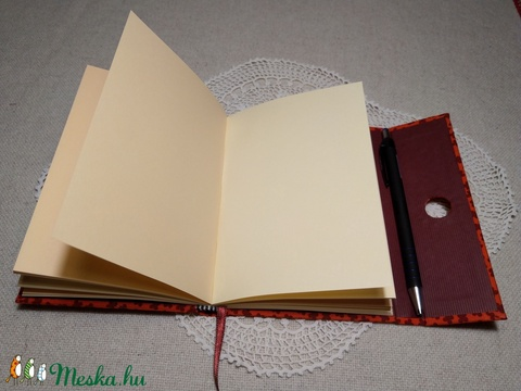 A/6 Korall piros, tollas notesz (46) - Meska.hu