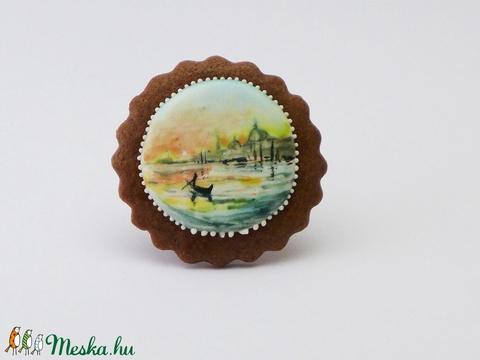 Reggel Velencében - festett kézműves keksz (EdibleArt) - Meska.hu