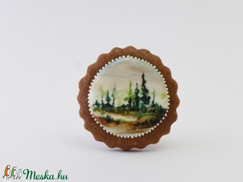 Mikor a köd se száll fel - festett kézműves keksz (EdibleArt) - Meska.hu