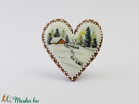 Vendégház a Havasokban - festett kézműves keksz (EdibleArt) - Meska.hu