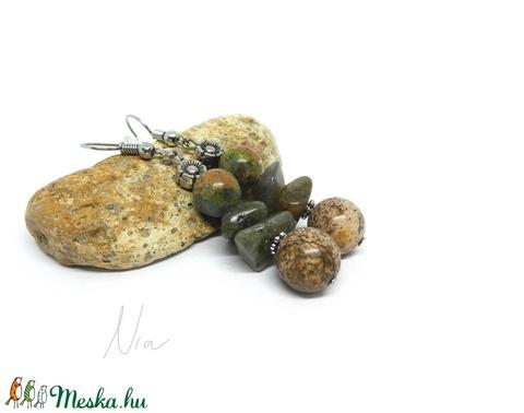 Moha és páfrány - ásványfülbevaló - Meska.hu