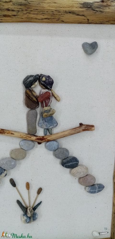 Szerelmespár a hídon (elementart) - Meska.hu
