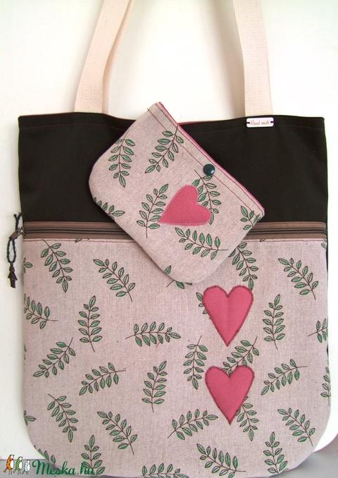 Leaves with hearts/levelek szívvel táska+neszesszer (ElizabethNoll) - Meska.hu