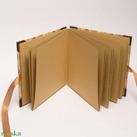 Közepes fotóalbum, négyzet alakú fényképalbum, vintage stílusú, bézs és barna emlékalbum, ajándék album nőknek - Meska.hu