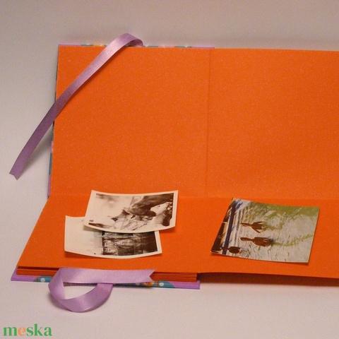 Baglyos fotóalbum babáknak, babaalbum, kisfiú vagy kislány album, papír és vászon borító, szalaggal - Meska.hu