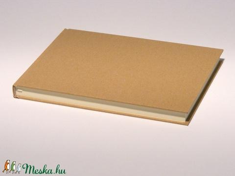 Natúr, kemény borítós, díszíthető könyv, fekvő B5 méretben. Napló, emlékkönyv, vendégkönyv - Meska.hu