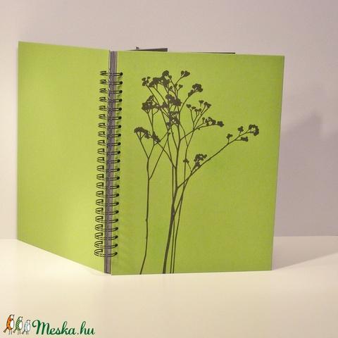 Fotóalbum vászon borítóval, spirál kötés, fekete lapok és pókpapír, minimál design - Meska.hu