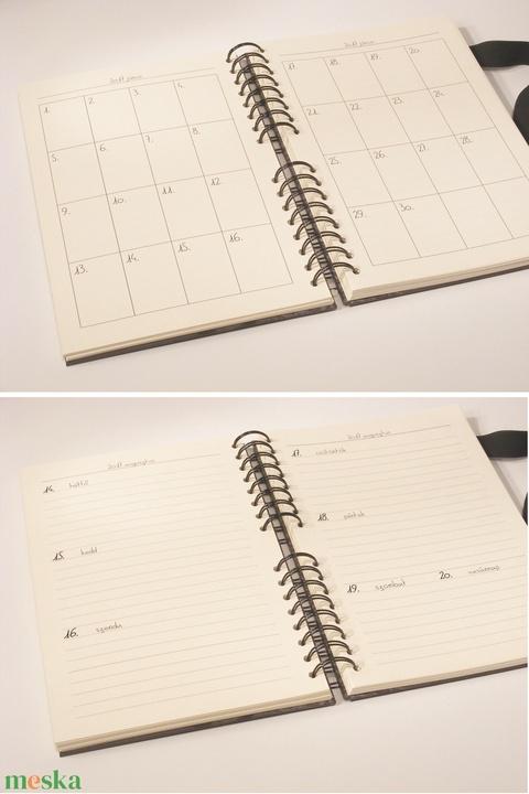 Cicás spirálos határidőnapló 2021-re, spirálozott naptár, heti beosztású 2021-es napló, kézzel hímzett cicával - Meska.hu