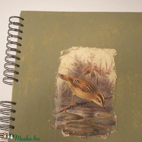 Madaras A4 spirálfüzet koptatott festésű borítóval, spirálozott jegyzetfüzet - Meska.hu