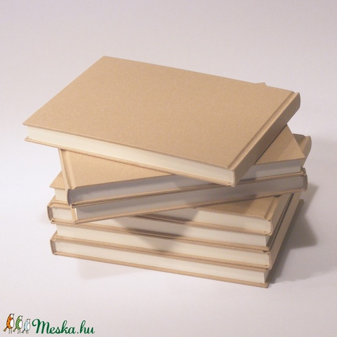 7 db-os csomag: natúr, kemény borítós, díszíthető könyv, fekvő A/5 méretben. Napló, emlékkönyv, vendégkönyv - Meska.hu