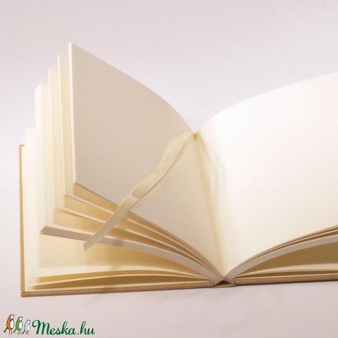 Natúr, kemény borítós, díszíthető könyv B/5 méretben. Napló, emlékkönyv, vendégkönyv - Meska.hu