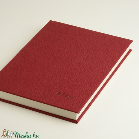 Regiszteres könyv B5 méretben. Kézzel fűzött könyv vonalas lapokkal, regiszterrel, műbőr borító, névreszólóan kérhető - Meska.hu