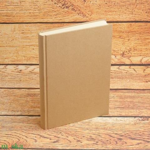 Kézzel fűzött natúr, kemény borítós, díszíthető könyv. A5 napló, emlékkönyv, vendégkönyv - Meska.hu