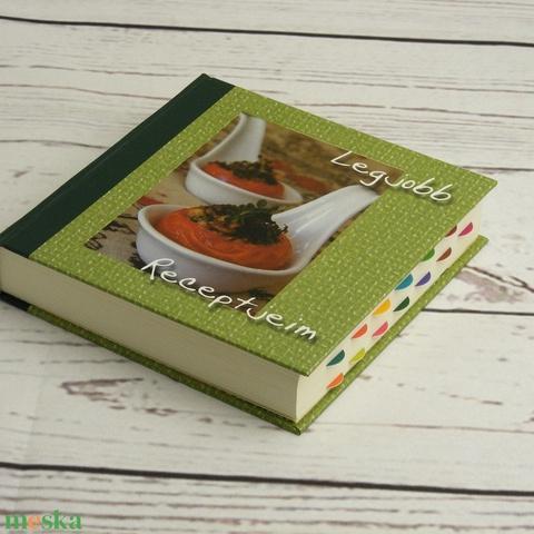 Színes, modern receptgyűjtő könyv, saját recepteskönyv üres, kitölthető lapokkal, színes fejezetkezdő oldalakkal (enciboltja) - Meska.hu