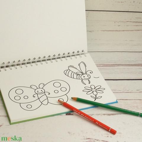 Kifestőkönyv állatokkal kisgyerekeknek. Spirálozott rajzfüzet, színezőkönyv, spirálfüzet színezhető oldalakkal, állatos - Meska.hu