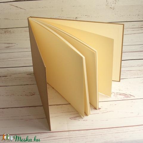 Natúr, kemény borítós, díszíthető könyv, fekvő, A4 méretű lapokkal. Napló, emlékkönyv, vendégkönyv - Meska.hu