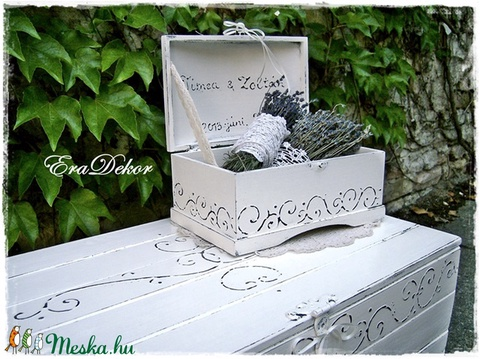 Vintage láda esküvőre (Eradekor) - Meska.hu
