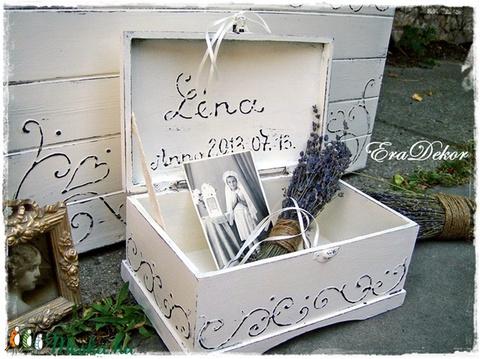 Vintage emlék  láda keresztelőre (Eradekor) - Meska.hu