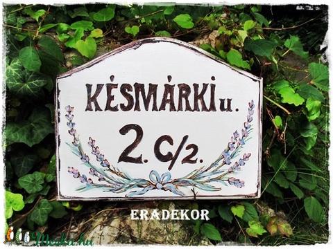 Vintage fehér házszámtábla (Eradekor) - Meska.hu